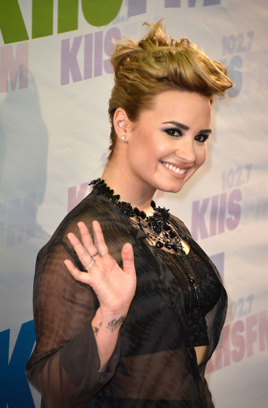 Demi Lovato French Twist Hairstyles 3