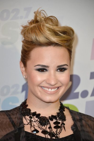 Demi Lovato French Twist Hairstyles