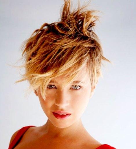 Cutting hair short for women